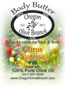 Citrus Sunrise Triple Moisture Body Butter Squeeze Bottle 4 Oz. (118 Ml) w/ Hinged Flip Top Snap-top Cap
