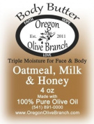 Oatmeal, Milk & Honey Triple Moisture Body Butter Squeeze Bottle 4 Oz. (118 Ml) w/ Hinged Flip Top Snap-top Cap