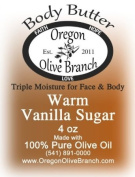 Warm Vanilla Sugar Triple Moisture Body Butter Squeeze Bottle 4 Oz. (118 Ml) w/ Hinged Flip Top Snap-top Cap