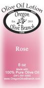 Rose Olive Oil Lotion 8 Oz. (240 Ml) Disc Top