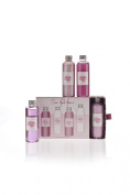 Nougat of London Our Fab Four ~Cherry Blossom~ 4 x 100 ml, Shower Gel, Body wash, Body souffle & Sparkling body Shimmer