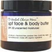 Herbal Choice Mari SPF-30 Face & Body Butter Unscented 100ml/ 3.38oz JAR
