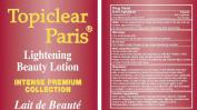 Topiclear Paris Lightening Beauty Lotion