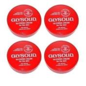 Glysolid Glycerin Cream Four Jars - 3.38 Oz (100 Ml) Each Plus Plus 2 - 1 Oz. Travel Tubes