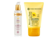 Yves Rocher FRANCE Riche Creme Omega 369 d'huille de soya Ultra Reconstructive Body Lotion, 6.7 fl oz (+50 years/ mature skin). & Beaute des mains Long Lasting Hand Cream, 30 ml