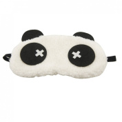Rosallini White Black Panda Design Sleeping Eye Mask Cover Eyeshade