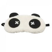 Rosallini White Black Panda Design Sleeping Eye Mask Cover Eyeshade