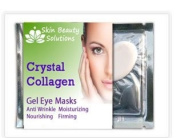 5 Pck -COLLAGEN EYE MASK - DARK CIRCLES, BAGS, WRINKLES-Crystal Collagen Anti-Ageing Eye Mask- Banish Bags, Dark Cricles, and Puffiness