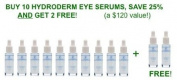Hydroderm Triple Effects Eye Serum 10ml - 10 PACK