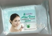 Epielle Aloe Vera Cleansing Tissues Towelettes Pre-moistened Wipes