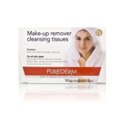 PureDerm Make-Up Remover Cleansing Tissues 30 sheets