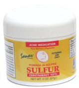 Sanar Naturals Sulphur Ointment - Pomada De Azufre - Acne Medicine