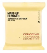 Comodynes 1 Pack Make Up Remover Towelettes for Sensitive & Dry Skin
