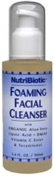 Nutribiotic - Foaming Facial Cleanser, 120ml liquid