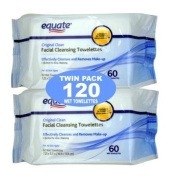 Equate Original Clean Facial Cleansing Towelettes 120 Total. Pond's Original Fresh) 60 Ct Twin Pack