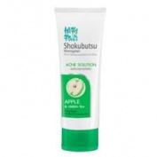Shokubutsu Facial Foam Acne Solution with Apple & Greentea Extract Cleanser 100ml