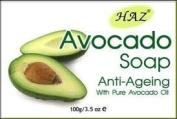 1 x Haz Avocado Anti Ageing Soap With Pure Avocado Oil 100G