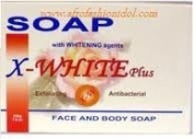 X White Plus Face And Body Soap With Whitening Agent 200G