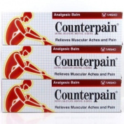 New Counterpain Relieves Muscular Aches and Pain Analgesic Balm Cream Warm 120g. 3 Packs