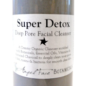 Super Detox - Organic Deep Pore Facial Cleanser with Activated Charcoal - 260ml w/Pump top