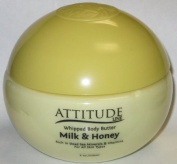 2012 BRAND NEW Attitude Line Premium Quality Dead Sea Products Milk & Honey WHIPPED BODY BUTTER L - 240ml