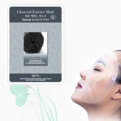 Natural Beauty Charcoal Essence Full Face Mask 10 Pcs