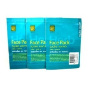 3X Thai Herbal Facial Mask FACE PACK with GREEN TEA, Vitamin C, Collagen 45 gramme
