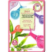 Beauu Green 3D Shape Facial Mask Sheet Pack - Snail