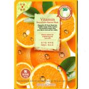 Beauu Green 3D Shape Facial Mask Sheet Pack - Vitamin