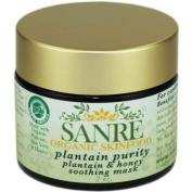 SanRe Organic Skinfood - Plantain Purity - USDA Made with Organic Plantain and Honey Soothing Face Mask For Combination to Oily Skin