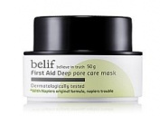 KOREAN COSMETICS, LG Household & Health Care_ belif, First Aid - Deep Pore Care Mask 50g (pores, deep cleansing)[001KR]