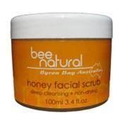 Bee Natural Byron Bay Australia Honey Facial Scrub, 100ml Unit