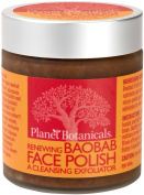 Planet Botanicals Baobab Micro Face Polish with Baobab and Cape Rose, 3.7 Fluid Ounce