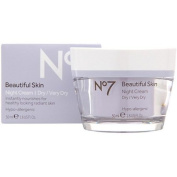 Boots No 7 Beautiful Skin Night Cream - Dry / Very Dry 45ml