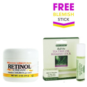 Retinol Cream (Vitamin A) - 60ml + FREE Herbal Authority Blemish Roll-On Stick with Tea Tree Oil