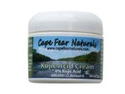 Cape Fear Naturals - Kojic Acid Cream - Natural Skin Lightener, Even Skin Tones - 60ml jar, 4% Kojic Acid