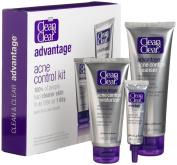 Clean & Clear Advantage Acne Control Kit - Acne Cleanser, Acne Medication Moisturiser, Acne Medicine Treatment, 1 Kit