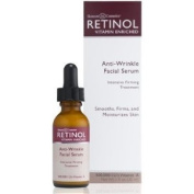 RETINOL Vitamin Enriched Anti-Wrinkle Facial Serum Intensive Firming Treatment 500,000 I.U.'s Vitamin A, 1 fl oz/ 30 ml