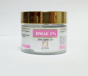 DMAE 1% Gel - Anti-Ageing Skin Care. Reduces Wrinkle and Puffiness. For smoother, younger looking skin. PAREN FREE, 30ml jar