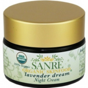 SanRe Organic Skinfood - Lavender Dream - 100% USDA Organic Lavender and Calendula Night Cream For Dry to Normal Skin