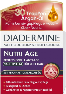 Genuine German Diadermine Nutri Age Regenerating Anti-Age Night Care Cream 1.7oz. / 50ml