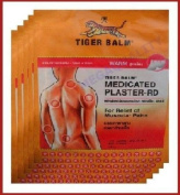 BIG Size Tiger Balm Patch Plaster Warm Medicated Pain Relief 10 Pcs. (2 X 5 Pc) Amazing of Thailand