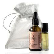 NADYA 100% Pure Organic Cold Pressed Cosmetic Grade Argan Oil 1.7oz/50ml w/BONUS Argan Oil Roll on Bottle 1/3oz and Gift Bag