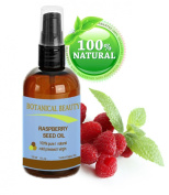 RASPBERRY SEED OIL 100% Pure / Natural / Virgin. Cold Pressed / Undiluted. For Face, Hair and Body. 4 Fl.oz.- 120 ml. by Botanical Beauty