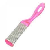 Rosallini Magenta Silver Tone Exfoliator Pedicure Callus Skin Remover Foot Scraper
