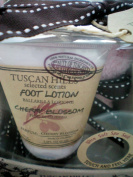 Tuscan Hills Scented Foot Lotion w/ Ultra Soft Spa Sock -- Cherry Blossom