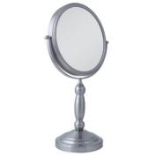 Zadro VAN410 Two-Sided Vanity Swivel Mirror, Satin Nickel, 1X and 10X
