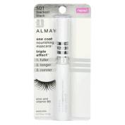Almay One Coat Nourishing Mascara, Triple Effect, Blackest Black 501, 10ml, 2 Ea