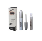 Happy Paris Eyelash Eye Lash Eyebrow Brow Enhancer Enhancing Lengthening Growth Serum Make Up For Full, Long, Thick, Soft, Darker, Natural Eyelashes Lashes 5ml