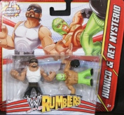 REY MYSTERIO & HUNICO - WWE RUMBLERS TOY WRESTLING ACTION FIGURES